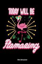 Today Will Be Flamazing Mein Jahresplaner: Flamingo pink Vogel Kalender 6x9 A5: Studienplaner - Terminkalender - W�chentliche To-Do-Liste & Ziele - F�