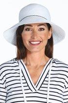 Coolibar UV bucket hoed Dames - Wit - Maat Onesize