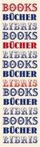 Moses Boekenlegger Met Elastiek Boeken 17,5 X 4,7 Cm Wit/blauw