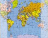Bureauonderlegger 379x579mm Basic Wereldkaart