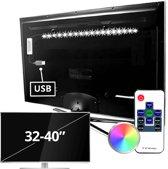 TV backlight set set met 1 RGB strip van 32 - 40 inch