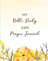 My Bible Study and Prayer Journal: Christian Women's Bible Study Notebook with Yellow Floral Design - Daily Scripture Study, Prayer, and Praise - 4 We
