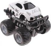 Toi-toys Stunt Truck Set Met Vuurring En Ramp 15 Cm Wit