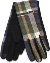 Handschoenen met Ruit - Dames - Touchscreen Tip - Groen - Dielay