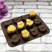 Kitchen Princess - Siliconen Chocoladevorm Uil - Fondant Bonbonvorm