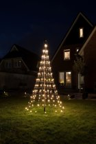 Nordik Lights - Kerstboom - Vlaggenmastverlichting - 180 CM - met 196 LED lampjes warm wit incl. mast