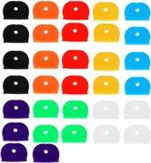 Sleutel Hoes - 32 stuks set! - Diverse Kleuren - Sleutelhoes - Sleutelhoesjes Silicone - Sleutelbeschermer - Sleutelbescherming - Sleutelhoes