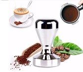 Koffie stamper - RVS - 51mm - tamper - zilver - Recette Parfait