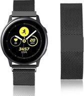 Milanese Loop Armband Voor Samsung Galaxy Watch Active 1/2 40/44 MM - Milanees Horloge Band - Zwart