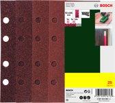 Bosch 25-delige schuurbladenset voor vlakschuurmachines geperforeerd 93 x 185 mm - korrel 40; 60; 80; 120