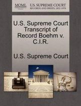 U.S. Supreme Court Transcript of Record Boehm V. C.I.R.