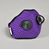 Fijnstof mondkapje Purple Sports N99C2V (15-75 kg gewicht persoon).