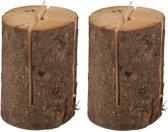 2 Zweedse fakkels / boomstam tuinfakkels