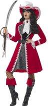 Luxe rode kapitein kostuum voor vrouwen - Volwassenen kostuums