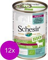 Schesir Puppy Bio Blik Paté - Hondenvoer - 12 x Kip 400 g