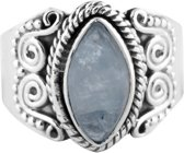 Haele | Ring 925 zilver met maansteen | Maat 17