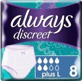 Always Discreet Incontinent Maxi pants L - 8 Stuks - Incontinentiebroekjes