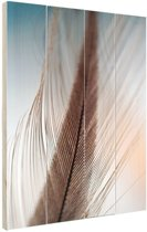 Veer close-up Hout 40x60 cm - Foto print op Hout (Wanddecoratie)