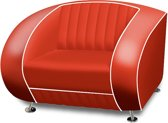 Bel Air Retro Fauteuil SF-01 Rood