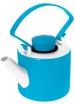 Qdo Cylinder Theepot - 1 l - Porselein - Turquoise