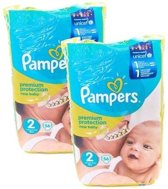 2x Pampers baby dry 56 stuks - Maat 2