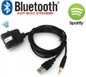universeel aux usb bluetooth dongle spotify deezer itunes streamen muziek autoradio radio