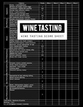 Wine Tasting Score Sheet