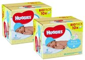 20x 56 Huggies billendoekjes - Pure