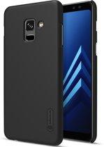 Hoesje voor Samsung Galaxy A8 (2018), Nillkin frosted shield case, zwart