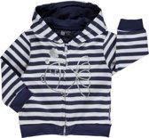 Losan Meisjes Vest in Wit met blauwe streep  - Maat 68