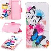 Let op type!! iPhone 7 & 8 horizontaal Kleurrijk vlinders patroon PU leren Flip Hoesje met houder en opbergruimte voor pinpassen & geld