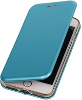 BestCases.nl Blauw Premium Folio leder look booktype smartphone hoesje voor Apple iPhone 7 / 8