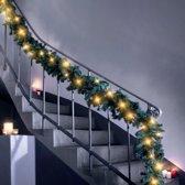 C.T. Guirlande - Inclusief LED lampjes - 6m x 22cm - Groen