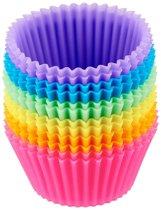 Cupcake Bakvorm - Siliconen - 12 stuks