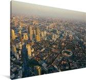 Panorama van Tianjin Canvas 90x60 cm - Foto print op Canvas schilderij (Wanddecoratie woonkamer / slaapkamer)