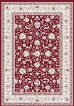 Klassiek vloerkleed Silkway - rood - 080x300 cm
