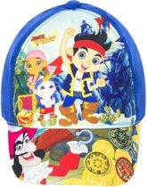 Pet/cap van Jake en de Nooitgedacht piraten,helderblauw 52 cm