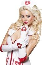 12 stuks: Handschoenen elleboog Verpleegster - Wit