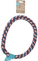 Lief! Flosstouw Ring Uni Blauw / Rood - 30 CM