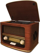 Camry CR 1109 Retro houten radio met CD/ mp3/ USB