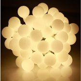 Witte Feestverlichting / Party lights LED voor Binnen of Buiten - 50 Lampen - 15 m Lang met Adapter | Feest verlichting | Party Lights voor in de Tuin of Binnen | Snoerverlichting | Lichtsnoer | Buitenverlichting | Wit