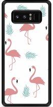Galaxy Note 8 Hardcase Hoesje Flamingo Pattern
