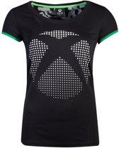 Xbox Dames Tshirt -2XL- Dot Logo Zwart