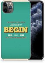 iPhone 11 Pro Max Siliconen hoesje met naam Quote Begin