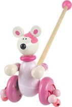 Orange Tree Toys Houten Duwstok - Roze Minnie