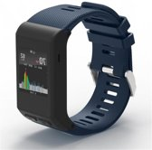 Siliconen Horloge Band Voor Garmin Vivoactive HR -  Armband / Polsband / Strap Bandje / Sportband - Donker Blauw
