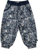 Minymo - meisjes lange broek - palmen - blauw - Maat 98