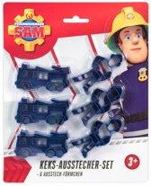 Brandweerman Sam koekjes uitsteker set 6-delig