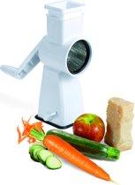 Metaltex Flash Groenten en Vleesraspmolen - met 4 Trommels - ABS+INOX