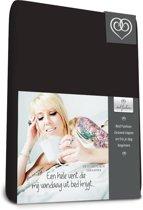 Bed-Fashion jersey hoeslaken voor boxspring Zwart - 120 x 210 cm - zwart